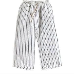 Lazy Sundays Stripped Cropped pants